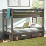 Wrangle Gun Smoke Twin/Twin Bunk Bed Available Online in Dallas Fort Worth Texas