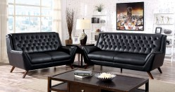 Leia Black Sofa & Loveseat Set Available Online in Dallas Fort Worth Texas