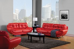 Volos Red Sofa & Loveseat Set Available Online in Dallas Fort Worth Texas