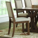 Coaster Bridgeport Weathered Acacia Upholstered Side Chair Available Online in Dallas Fort Worth Texas