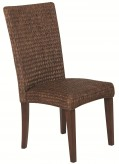 Westbrook Banana Leaf Brown Side Chair Available Online in Dallas Fort Worth Texas