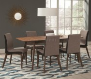 Coaster Redbridge Walnut Dining Table Available Online in Dallas Fort Worth Texas