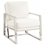 Coaster Knottley White Leatherette Accent Chair Available Online in Dallas Fort Worth Texas