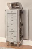 Coaster Antique Silver Jewelry Armoire Available Online in Dallas Fort Worth Texas