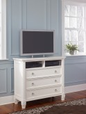 Ashley Prentice White Media Chest Available Online in Dallas Fort Worth Texas