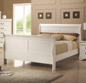Louis Philippe White Queen Bed Available Online in Dallas Fort Worth Texas