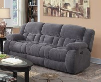 Coaster Weissman Grey Motion Sofa Available Online in Dallas Fort Worth Texas