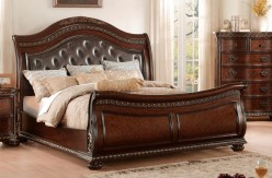 Homelegance Chaumont Burnished Brown Cherry Queen Bed Available Online in Dallas Fort Worth Texas