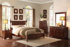 Morelle Cherry Queen 5pc Bedroom Group Available Online in Dallas Fort Worth Texas