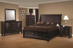 Sandy Beach Cappuccino 5pc King Storage Bedroom Group Available Online in Dallas Fort Worth Texas