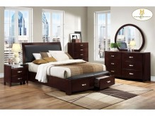 Lyric Espresso King 5pc Bedroom Group Available Online in Dallas Fort Worth Texas