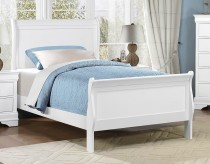 Mayville White Twin Sleigh Bed Available Online in Dallas Fort Worth Texas