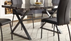 Homelegance Rancho Portola Black Dining Table Available Online in Dallas Fort Worth Texas