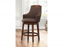 Bayshore Chocolate/Linen Swivel Pub Height Chair Available Online in Dallas Fort Worth Texas