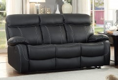 Homelegance Pendu Black Double Reclining Sofa Available Online in Dallas Fort Worth Texas