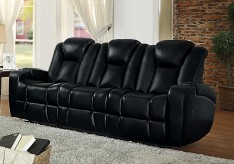 Homelegance Madoc Black Power Double Reclining Sofa Available Online in Dallas Fort Worth Texas