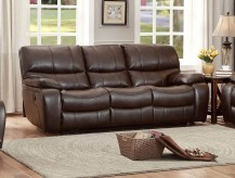 Homelegance Pecos Dark Brown Power Reclining Sofa Available Online in Dallas Fort Worth Texas