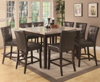 Coaster Milton Cream Marble 9pc Dining Set Available Online in Dallas Fort Worth Texas