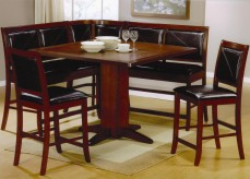 Coaster Lancaster 6pc Counter Height Corner Nook Dining Set Available Online in Dallas Fort Worth Texas