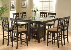 Coaster Gabriel Cappuccino 9pc Counter Height Dining Set Available Online in Dallas Fort Worth Texas