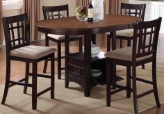 Lavon Espresso 5pc Counter Height Dining Set Available Online in Dallas Fort Worth Texas
