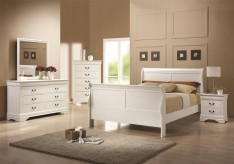 Louis Philippe White Full 5pc Bedroom Group Available Online in Dallas Fort Worth Texas