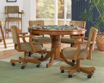 Coaster Mitchell Oak 5pc Game Table Set Available Online in Dallas Fort Worth Texas