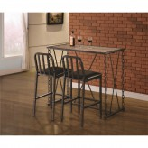 Coaster Chain Gang 3pc Bar Dining Set Available Online in Dallas Fort Worth Texas
