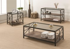 Coaster Avondale Rustic 3pc Coffee Table Set Available Online in Dallas Fort Worth Texas