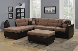Mallory Tan 3pc Sectional & Ottoman Available Online in Dallas Fort Worth Texas