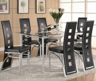 Coaster Los Feliz 7pc Black Dining Room Set Available Online in Dallas Fort Worth Texas