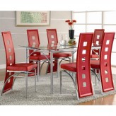 Coaster Los Feliz 7pc Red Dining Room Set Available Online in Dallas Fort Worth Texas