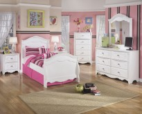 Ashley Exquisite 5pc Twin Sleigh Bedroom Group Available Online in Dallas Fort Worth Texas