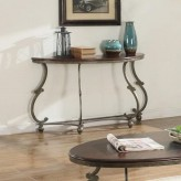 Coaster Jabard Cherry Brown & Antique Pewter Sofa Table Available Online in Dallas Fort Worth Texas