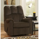 Ashley Raulo Chocolate Rocker Recliner Available Online in Dallas Fort Worth Texas