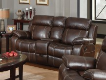 Coaster Myleene Chestnut Glider Console Loveseat Available Online in Dallas Fort Worth Texas