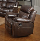 Coaster Myleene Chestnut Glider Recliner Available Online in Dallas Fort Worth Texas