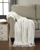 Ashley Clarence Off White Throw Available Online in Dallas Fort Worth Texas