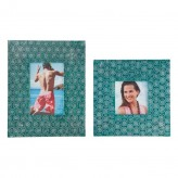 Ashley Bansi Teal Photo Frame Available Online in Dallas Fort Worth Texas