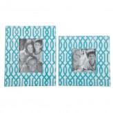 Ashley Baina Teal/White Photo Frame Available Online in Dallas Fort Worth Texas