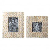 Ashley Baina Yellow/White Photo Frame Available Online in Dallas Fort Worth Texas