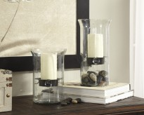 Kadeem Clear Candle Holder Set of 2 Available Online in Dallas Fort Worth Texas