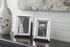Ashley Keyon Nickel Photo Frame Set of 2 Available Online in Dallas Fort Worth Texas