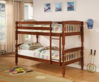 Coral Twin/Twin Brown Cherry Bunk Bed Available Online in Dallas Fort Worth Texas