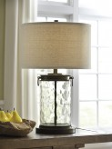 Tailynn Clear and Bronze Glass Table Lamp Available Online in Dallas Fort Worth Texas