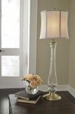 Ashley Ardice Clear and Brass Glass Table Lamp Available Online in Dallas Fort Worth Texas