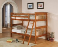 Mission Honey Twin / Twin Bunk Bed Available Online in Dallas Fort Worth Texas