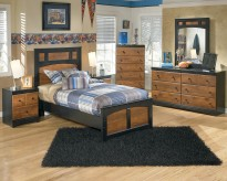 Aimwell 5pc Twin Panel Bedroom Group Available Online in Dallas Fort Worth Texas