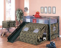 Coaster Camouflage Twin Loft Bed Available Online in Dallas Fort Worth Texas