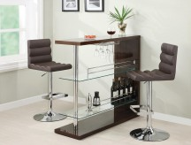 High Gloss Brown Bar Unit Available Online in Dallas Fort Worth Texas